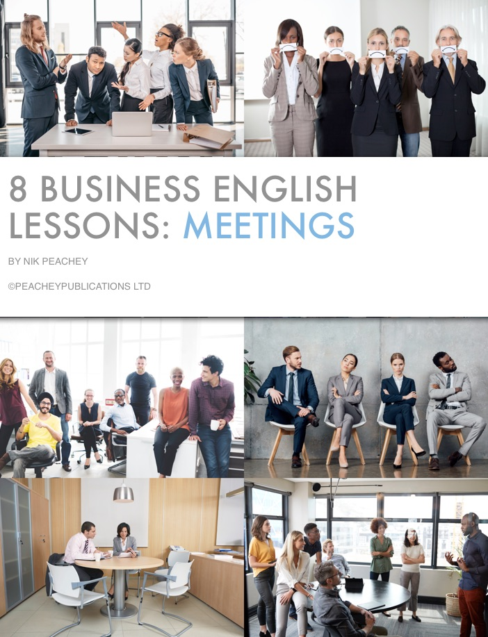 Book Cover - 8 Business English Lessons: meetings