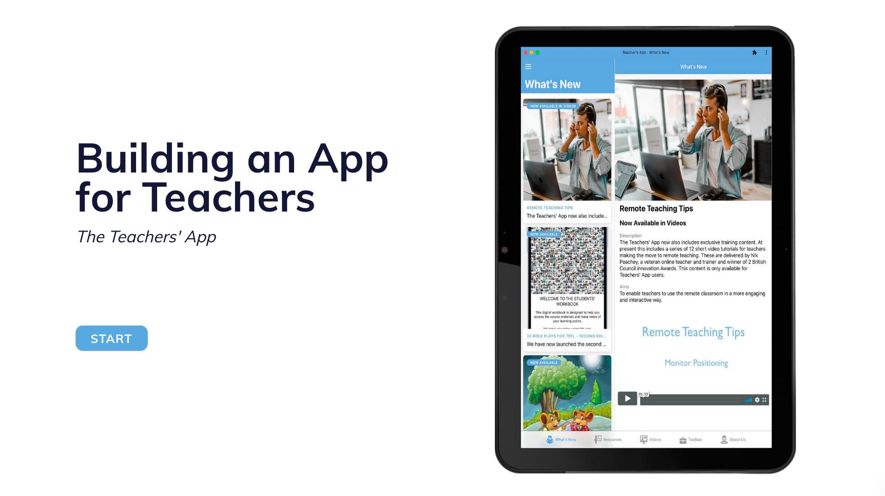 Building Apps for Teachers