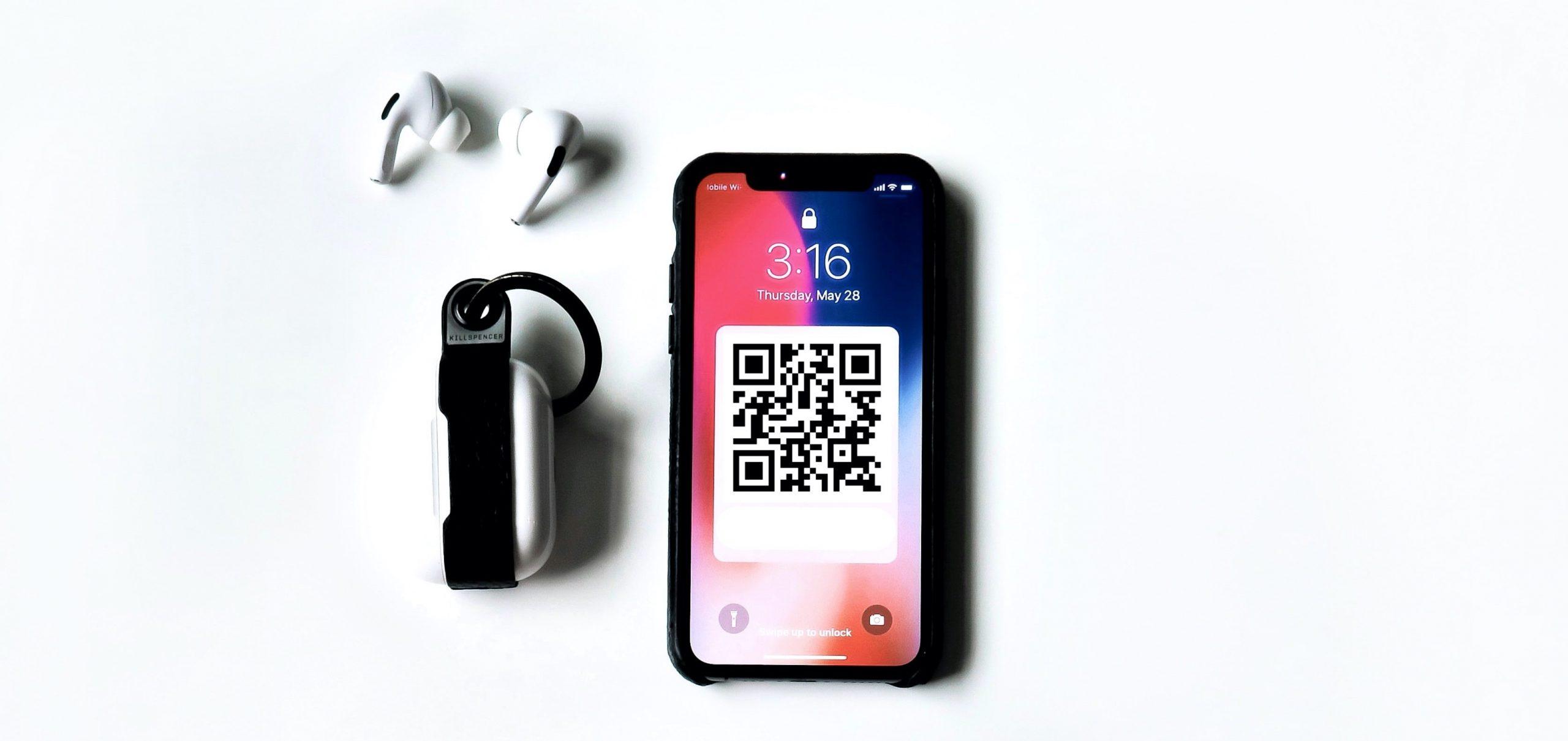 QR code on phone